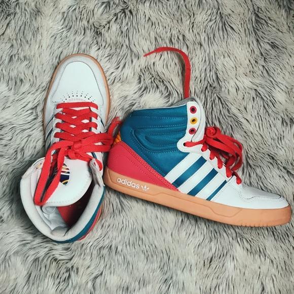 Adidas zapatos coloridos poshmark High Top Sneakers